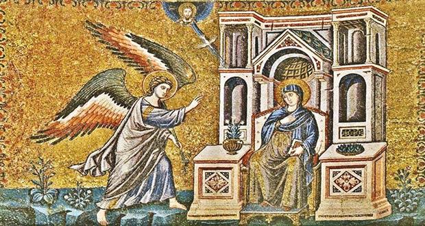 Архангел Гавриил поведал Деве Марии благую весть