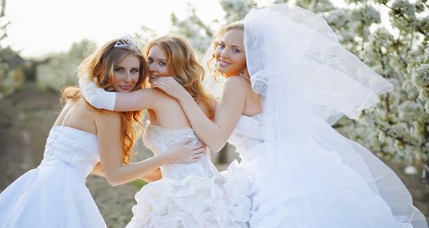 Невесты в красивых свадебных платьях