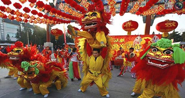 празднование Нового года по китайскому календарю