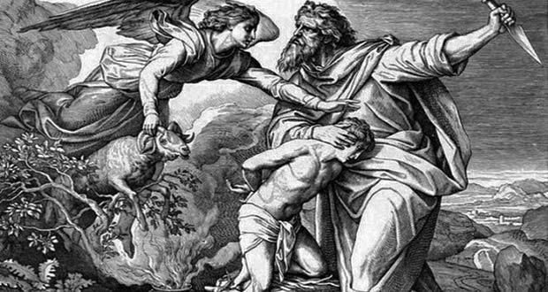 Ибрахим пытается принести в жертву своего сына Исмаила