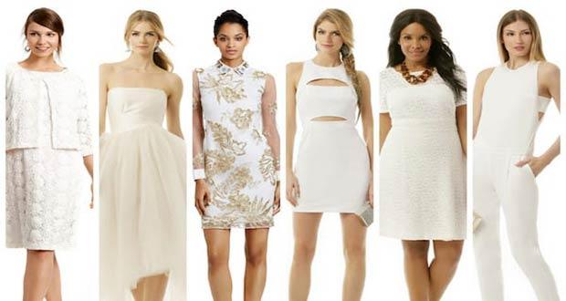 Красивые белые новогодние платья
