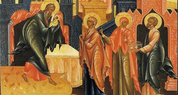 Старец Симеон с младенцем Иисусом Христом