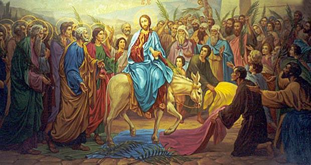 Иисус Христос въезжает на осле в Иерусалим