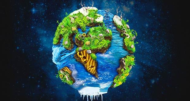 Экологически чистая зеленая планета