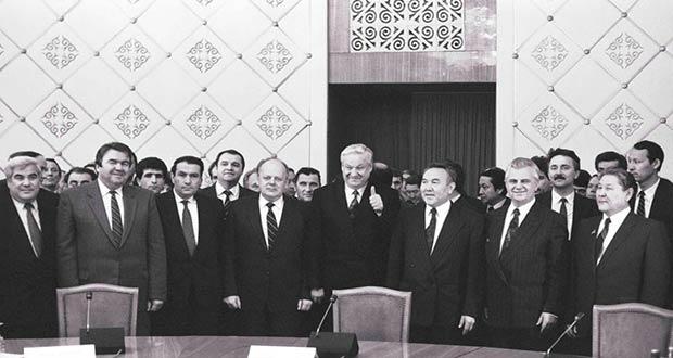 Президенты СНГ в Алма-Ате (1991 г.)