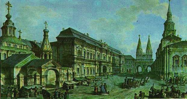 Старинное здание МГУ (1700 г.)