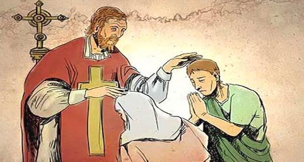 Священник Валентин венчает пару