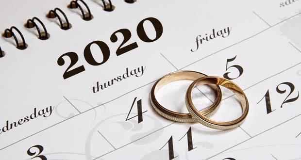 Календарь красивых свадебных дат на 2020 год
