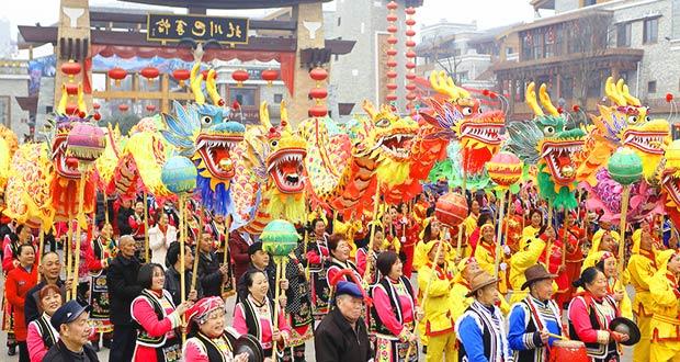 Китайцы празднуют наступление Нового года