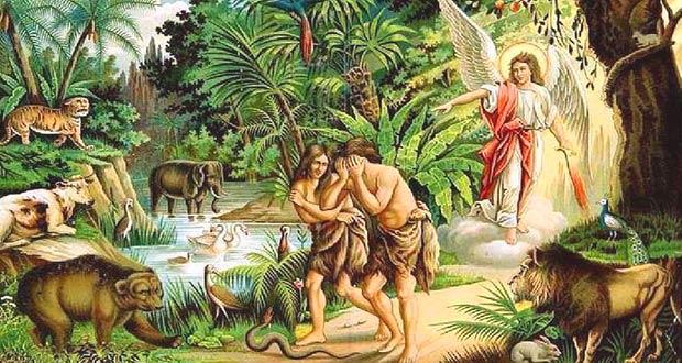 Адама и Еву изгоняют из райского сада
