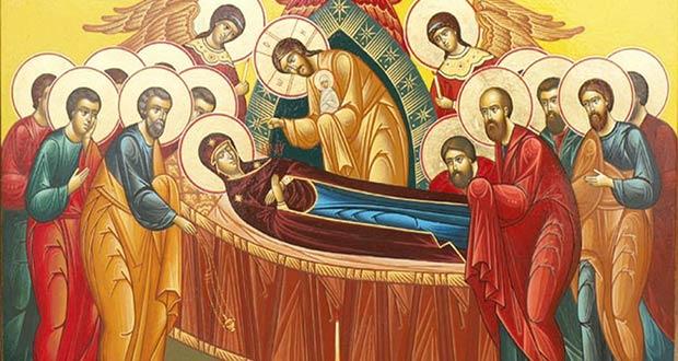 Дева Мария и святые апостолы