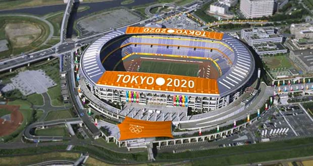 Главная Олимпийская арена в Токио в 2020 году
