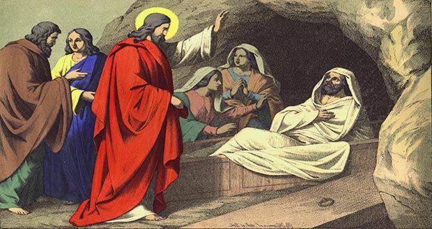 Иисус воскресил Лазаря
