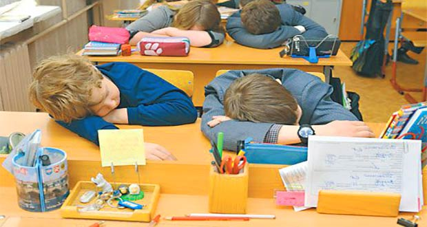 Дети спят на уроке