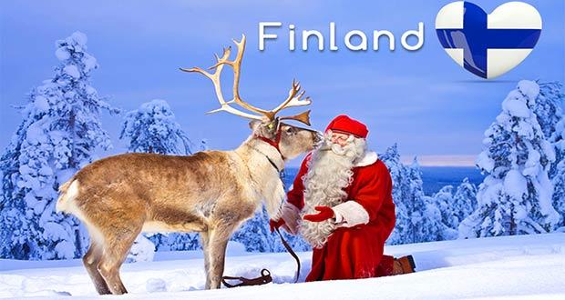 Финский Йоулупукки с оленем