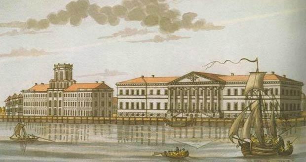 Старинное здание РАН в Санкт-Петербурге