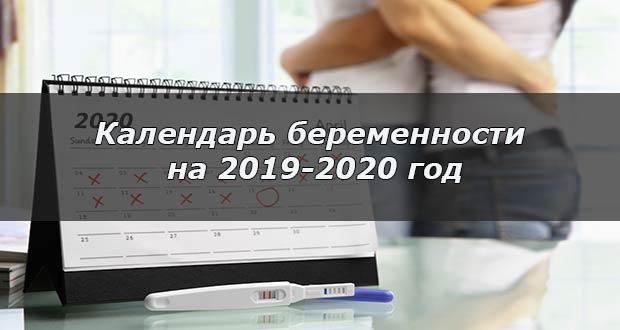Календарь беременности для 2019-2020 года