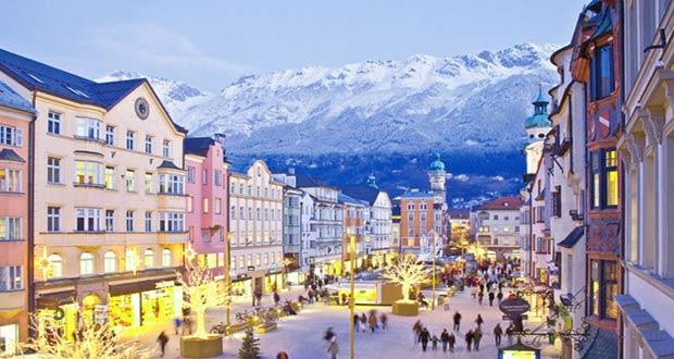 Встреч Нового года в австрийских Альпах