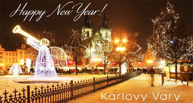 Чешские Карловы Вары в новогоднюю ночь