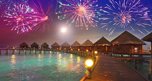 Новогодняя ночь на Мальдивах