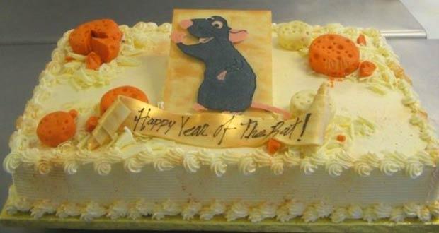 Новогодний торт с символом 2020 года - Крысой