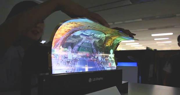 Телевизор LG который можно свернуть в рулон