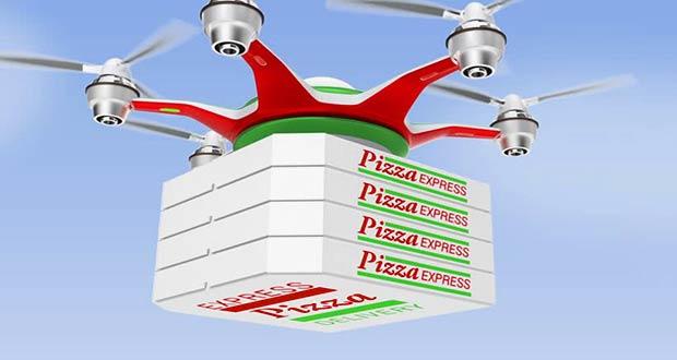 Дрон - доставщик пиццы