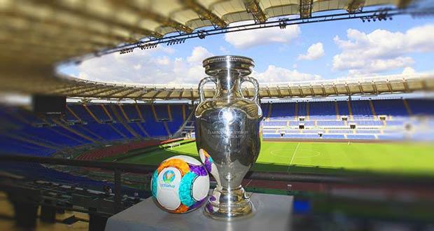 Стадион ЧЕ по футболу 2020: кубок и мяч