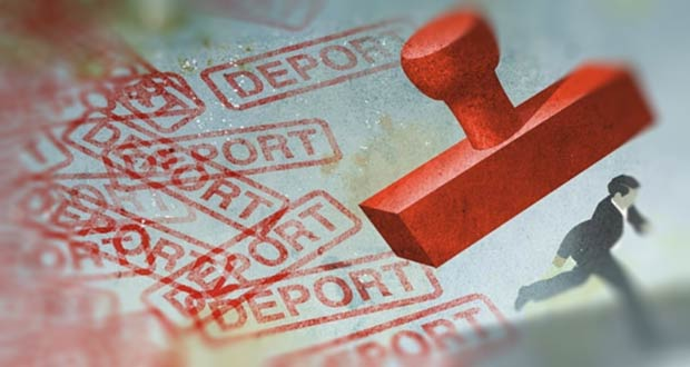 Печать о депортации в паспорте