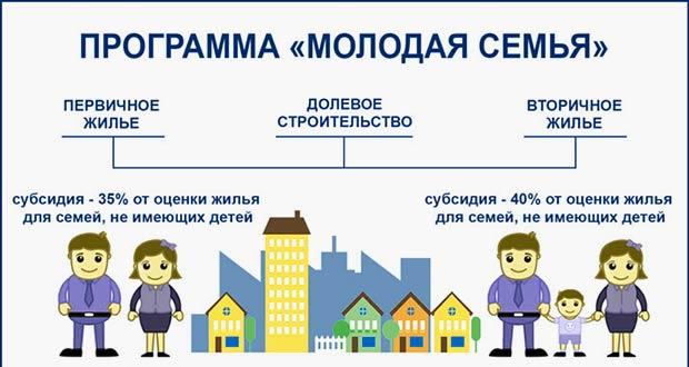 Размер субсидии по программе молодой семьи в РФ