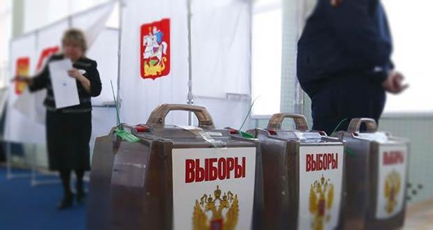Избирательный участок на местных выборах РФ