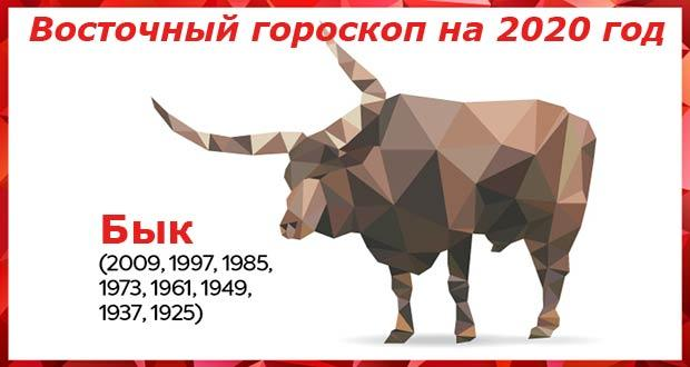 Восточный гороскоп для Быка на 2020 год