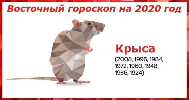Восточный гороскоп для Крысы на 2020 год