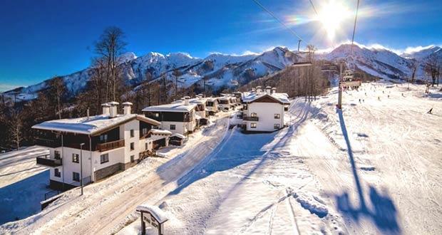Лыжные спуски Красной Поляны