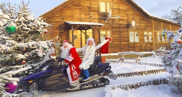 Дед Мороз со снегурочкой в Карелии