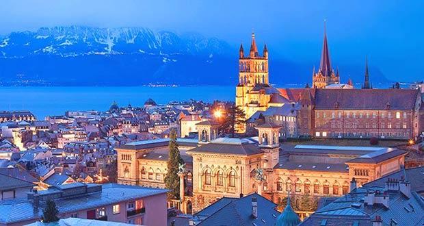 Зимняя Лозанна (Швейцария)