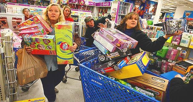 Ажиотаж в супермаркетах России во время Black Friday