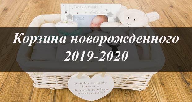 Что входит в корзину для новорожденных в 2019-2020 году