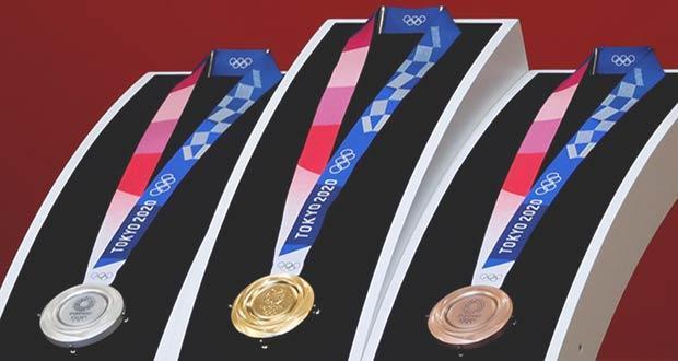 Фото олимпийских медалей в Токио-2020