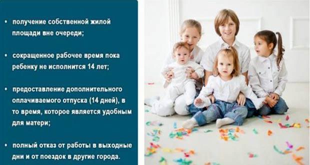 Перечень льгот для матерей одиночек в РФ