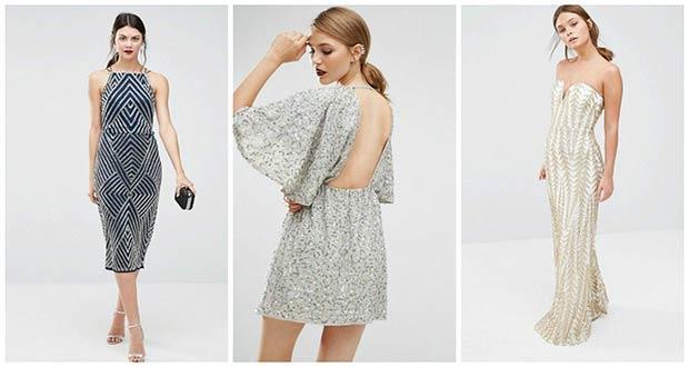 Красивые платья на Новый 2020 год с блестками