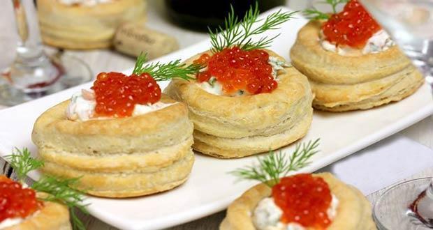 Рецепты новогодних волованов: фото, лучшая закуска