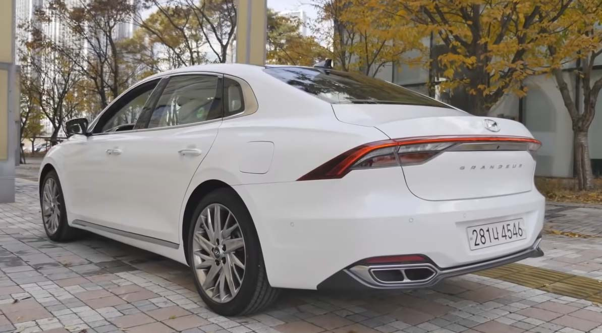 Новый Grandeur белый кузов