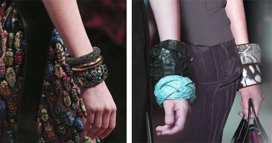массивные многоярусные браслеты
