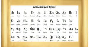 Кириллица 43 буквы