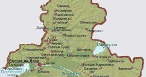Карта Ростовской области