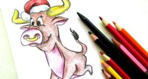 Инструкция с фотографиями- как нарисовать быка