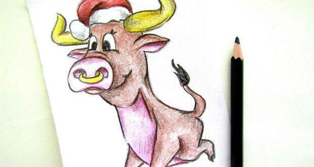 Рисуем быка-2021 карандашами- мастер класс